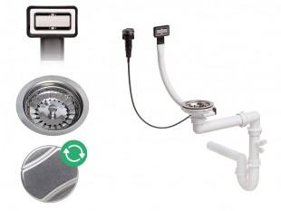 Sifón nástenný obdĺžnikový automatický s otáčacím uzáverom