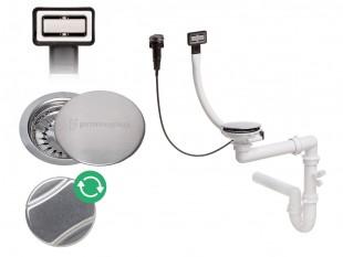 Sifón nástenný obdĺžnikový automatický s otáčacím uzáverom VIP